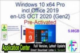 Windows 10 X64 Pro incl Office 2019 en-US DEC 2020 {Gen2}