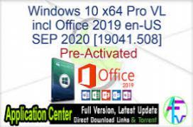 Windows 10 X64 Pro incl Office 2019 es-ES DEC 2020 {Gen2}